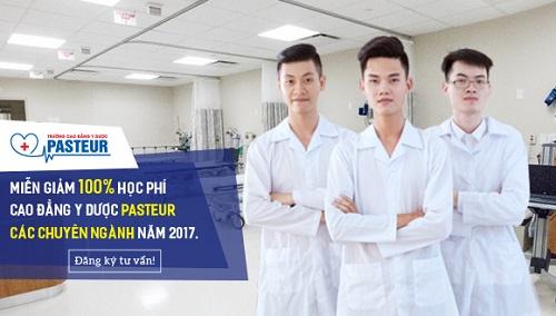 Miễn giảm 100% học phí năm 2017 khi đăng ký học Cao đẳng Y Dược