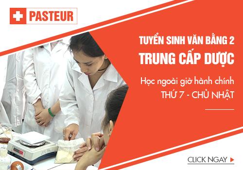 Trường Trung cấp Y khoa Pasteur đào tạo văn bằng 2 Trung cấp Dược theo chuẩn Bộ Y tế